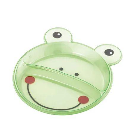 Prato Raso Com Divisórias Funny Meal (Sapo) Multikids Baby