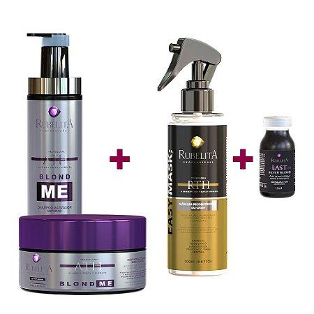 Kit Blond Me + Spray Easy Mask + Ampola Last Silver Blond - Deu Match