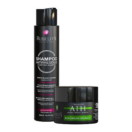 Kit Shampoo Anti Resíduo 500 ml + Btox Orgânico 250gr ATH