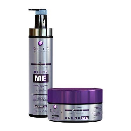Kit BLOND ME Shampoo + Máscara Matizadora 250g - Rubelita