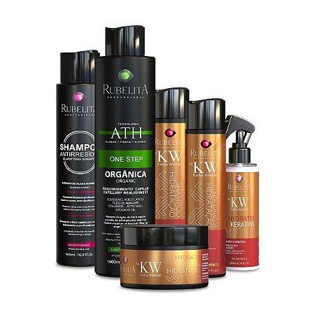 Kit Karlos Wendell + 1 Progressiva 1L + Shampoo Anti Resíduo 500ml