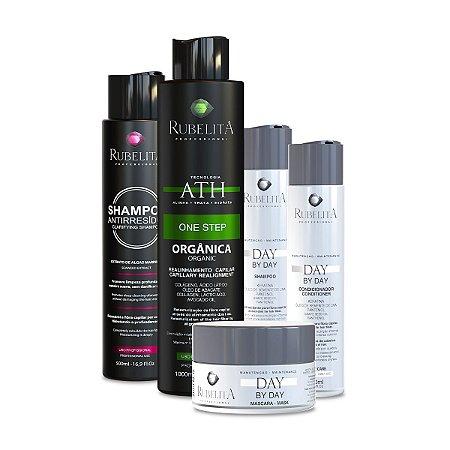 Kit Day By Day + 1 Progressiva 1L + Shampoo Anti Resíduo 500ml