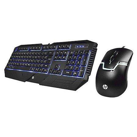 Kit Teclado e Mouse Gamer HP GK1100
