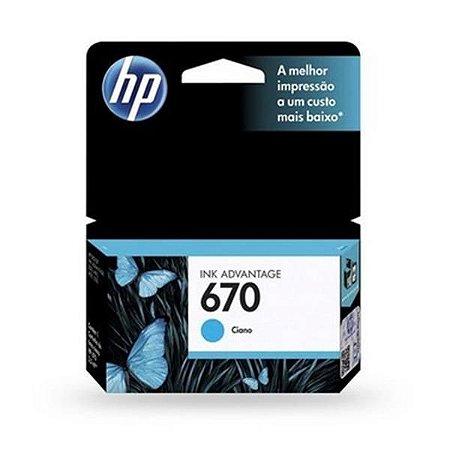 Cartucho HP 670 Ciano 3,5ML