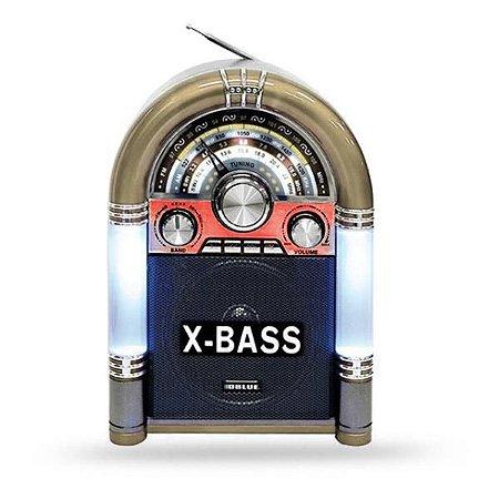Radio FM/AM Portátil USB Bluetooth Dourado CMik MK-166BT