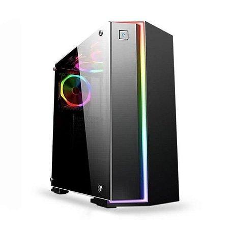Gabinete Gaming Preto com Led RGB K-MEX CG-06RB