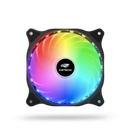 COOLER FAN P/GABINETE 18 LEDS RGB F9-L150RGB C3 TECH