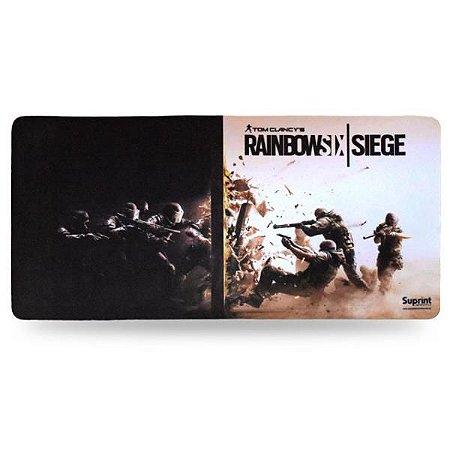 Mouse Pad Gamer Rainbow Six Siege 320mm x 650mm Suprint Informática
