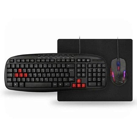 Kit Gamer Teclado + Mouse + Mouse Pad K-Mex KM-1328+MO-G536+PAD