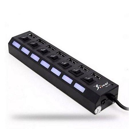 HUB USB 7 PORTAS KNUP KP-T57