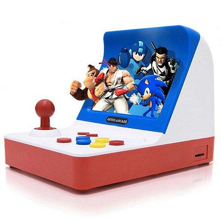 Vídeo Game Mini Fliperama Retro Arcade Com 2 Controles Saída Para TV