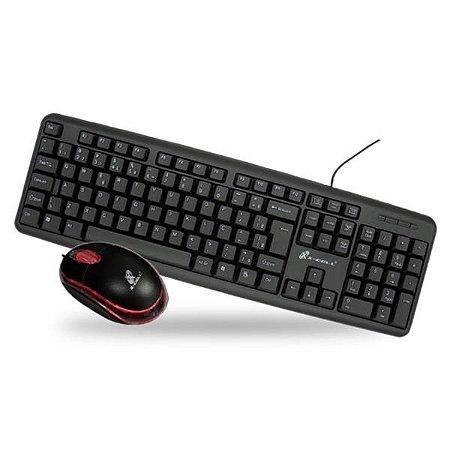 Kit Teclado e Mouse Slim X-Cell XC-CB-03