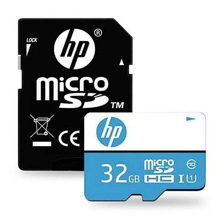 Cartão De Memória Classe 10 Micro SDHC 32GB Com Adaptador HP mi210