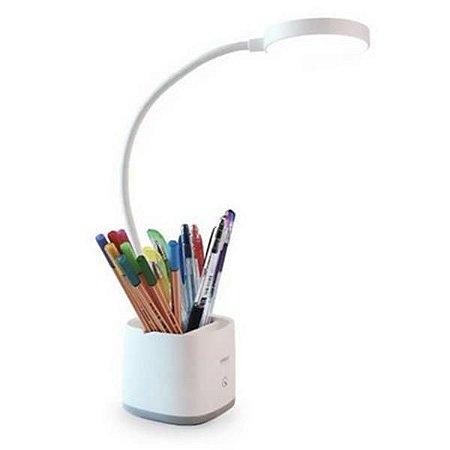 Luminária De Mesa Com Porta Canetas E Espelho NSBAO YG-T110