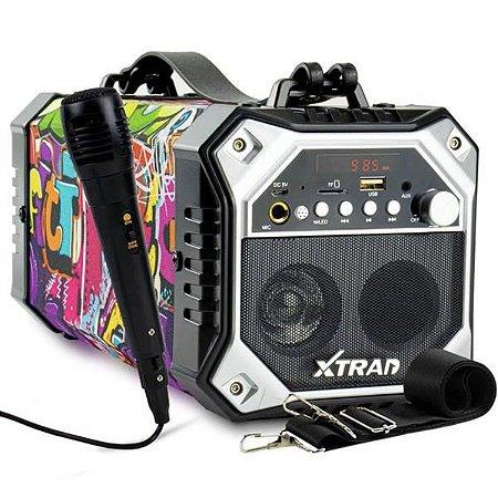 Caixa De Som Sem Fio Bluetooth Com Microfone XTrad XDG-41
