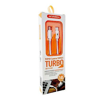 CABO USB TIPO C PARA TIPO C TURBO ECOODA EC11151