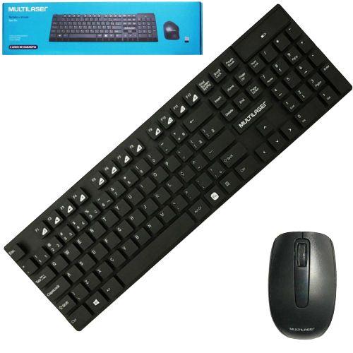 Teclado e mouse USB TC251 Preto MULTILASER