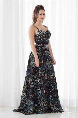 Vestido de Alcinha Longo Estampado - Farthingale