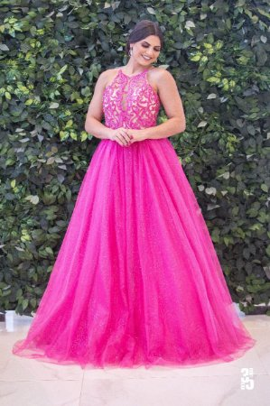 Vestido Debutante Gola Alta - Farthingale