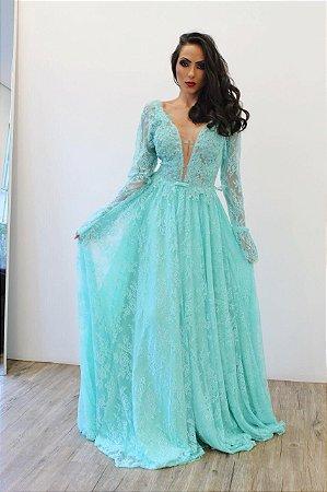 Vestido Manga Longa Punho Jabour - Farthingale