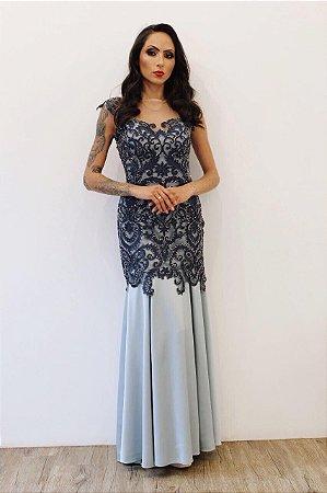 Vestido Corpete Alongado - Farthingale