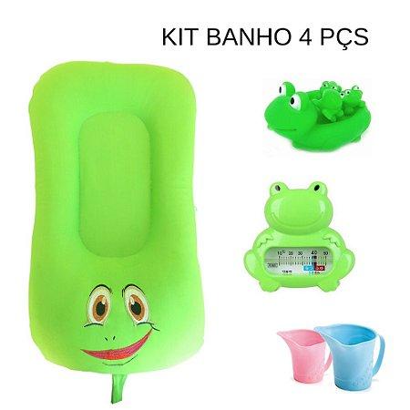 Super Kit - Almofada de Banho e Ninho - Sapo Miguel + Sapinhos de  Borracha + Enxágue de banho + termómetro
