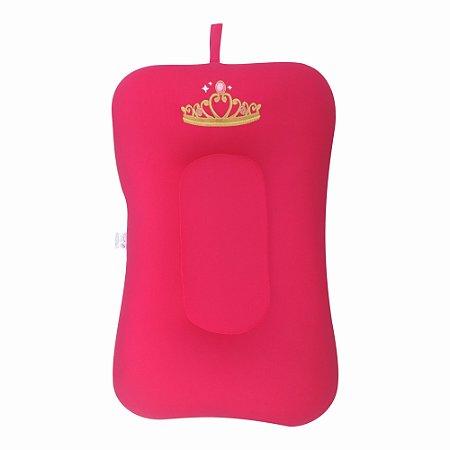 Almofada de Banho e Ninho - Coroa Rosa Pink