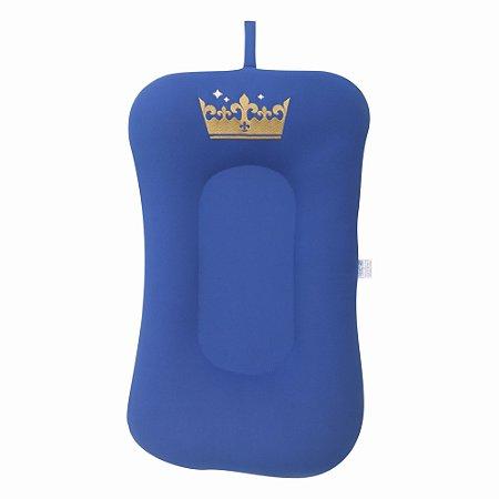 Almofada de Banho e Ninho - Coroa Azul Royal