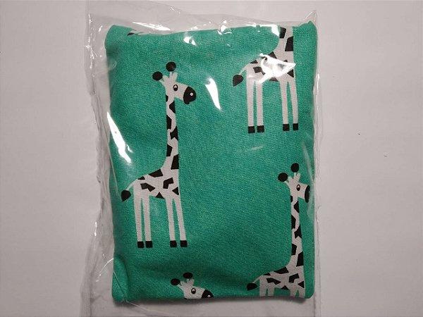 Bolsinha Térmica de Sementes - Girafa verde - SEU BEBÊ SEM CÓLICA