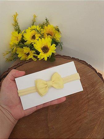 Laço Gravatinha Duplo Amarelo
