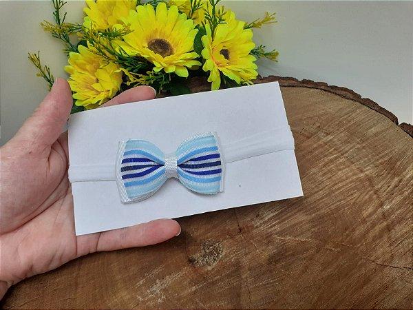 Laço Gravatinha Duplo Azul degrade