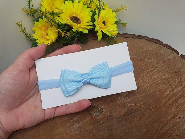 Laço Gravatinha Duplo Azul