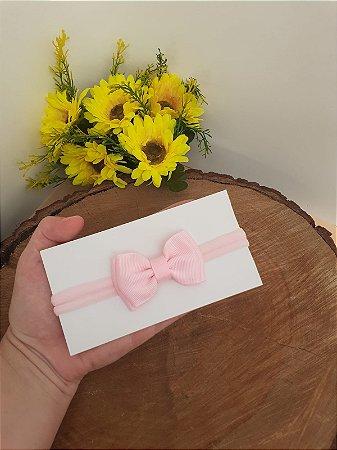Laço Gravatinha Duplo Rosa