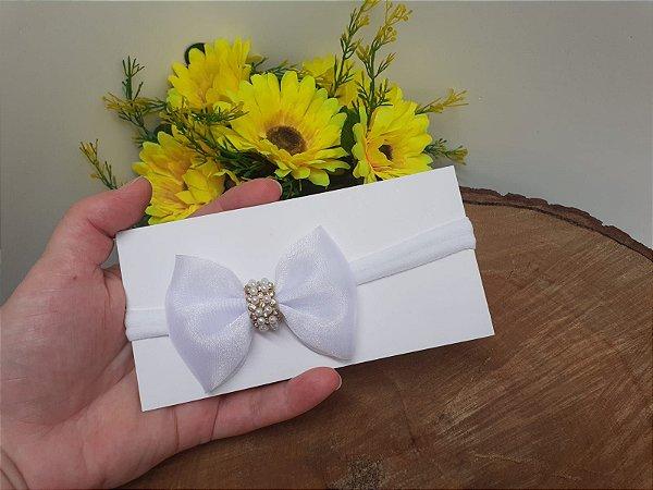Laço Gravatinha Luxo Branco