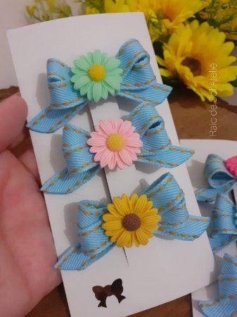 Laço Hairclip Floral 2
