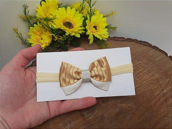 Laço Gravatinha Manu Dourado