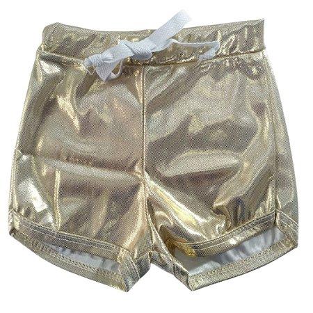 Shorts Style 2 Dourado Brilho