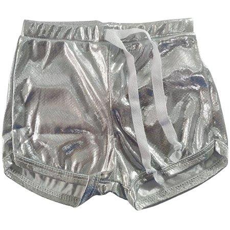 Shorts Style 3 Prata  Brilho