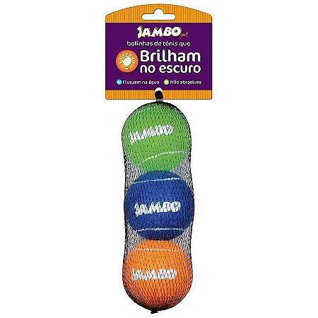 Bolas de Tênis Fluorescentes com 3 unidades - Jambo