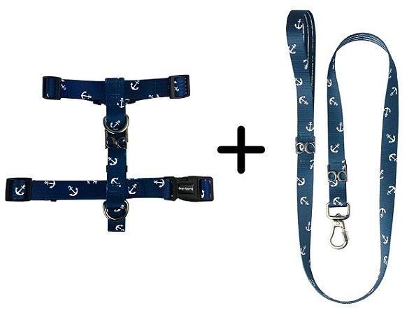 Kit Guia e Peitoral para Cachorro estampa Marinheiro – Buddy Dog