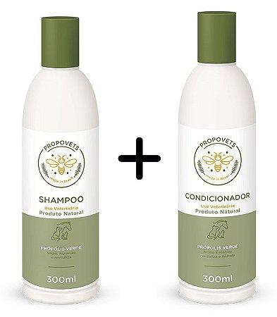 Kit Shampoo e Condicionador Natural para Cães e Gatos 300ml - Propovets