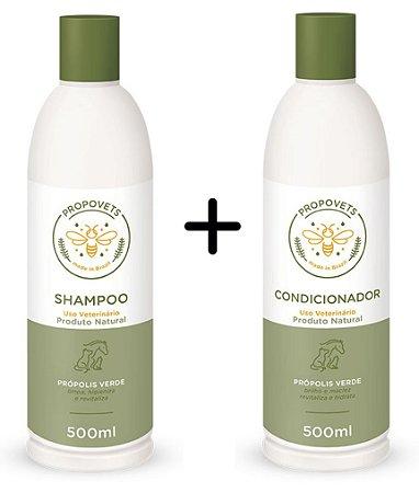 Kit Shampoo e Condicionador Natural para Cães e Gatos 500ml - Propovets
