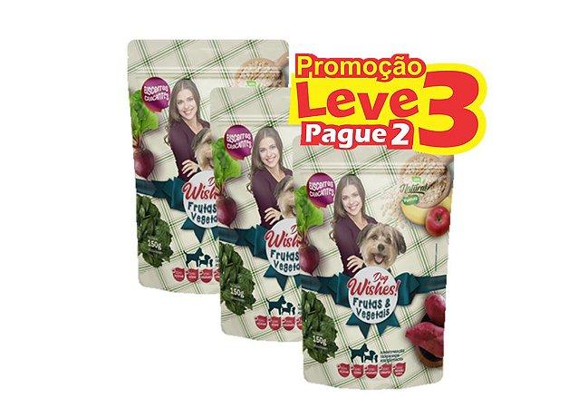 Kit com 3 Biscoitos Naturais Dog Wishes Frutas & Vegetais 150g – Pathas