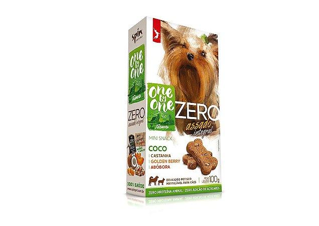 Biscoito Natural Mini Snack ZERO Coco Abóbora e Castanha 100g - Spin Pet
