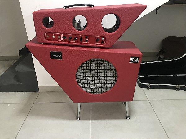 Amplificador MG LUNATIC - HEAD+CAIXA 1x12 - Falante  Celestion Alnico Blue