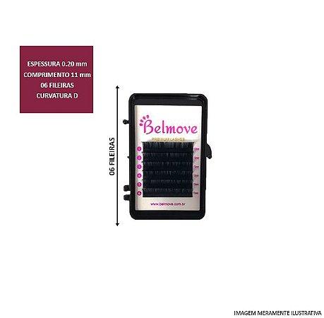 Cílios 11mm D 0.20 06 Fileiras - Belmove