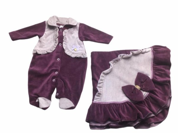 Saída de Maternidade de Plush Ma - 2 Peças