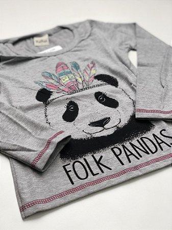 Camiseta Pandinha Cinza Feminina 4/10