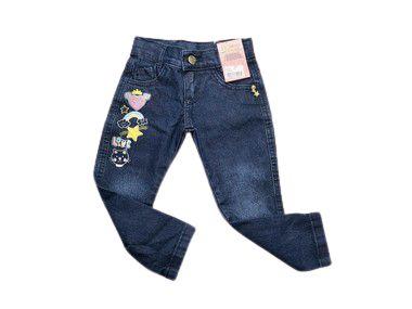 Calça Jeans Com Bordado 1/3