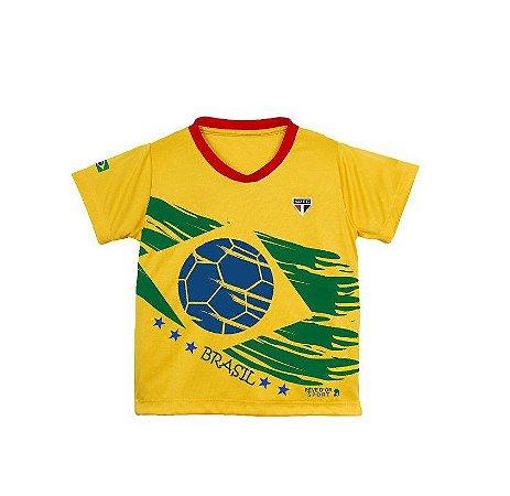 Camiseta Brasil Unissex de Time Oficial São Paulo Tam 4